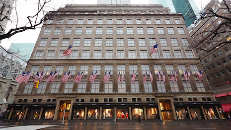 Saks Fifth Avenue flagship store in New York across from Rockefeller Center. Image courtesy of Saks Fifth Avenue
