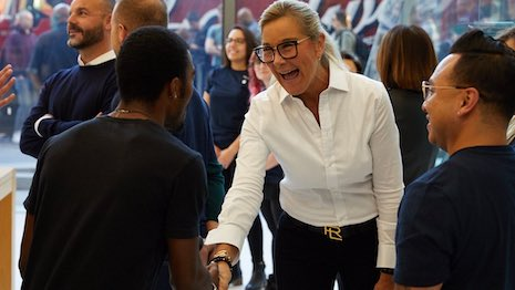 Angela Ahrendts in an Apple store. Image credit: Apple
