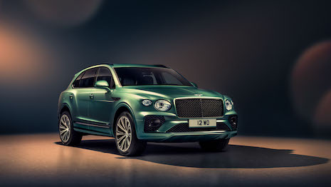 The new Bentley Bentayga is part of the automaker's Beyond100 business plan. Image courtesy of Bentley Motors