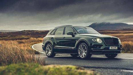 The Bentley Bentayga SUV. Image credit: Bentley Motors