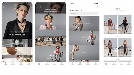 Chanel's app lets consumers shop the look. Image credit: Chanel