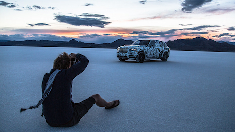 Adventure photographer photographing the Rolls-Royce Cullinan SUV. Image courtesy of Rolls-Royce Motor Cars