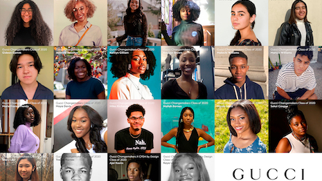 2020 class of Gucci North America Changemakers Scholars