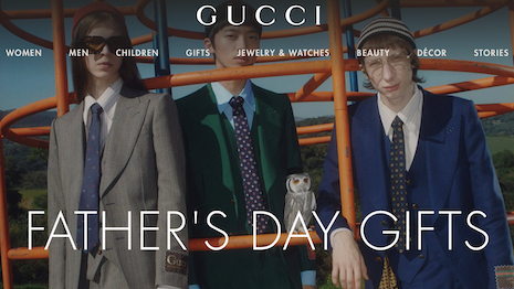 Gucci promotes fashion and leather goods for Father's Day this year. Image credit: Gucci