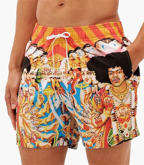 Not a fit: the Aniri swimwear depicting Hindu deities alongside singers Bob Marley and Jim Morrison. Image credit: MatchesFashion, Aniri