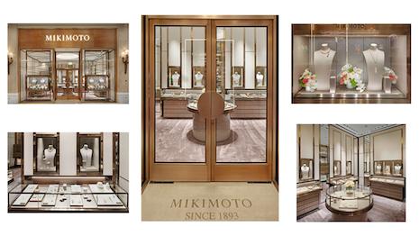 The new Mikimoto boutique in Las Vegas opened June 23, 2020. Image courtesy of Mikimoto