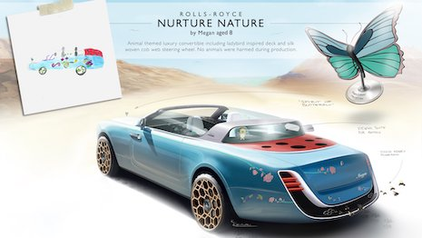 A shortlisted entry from the Rolls-Royce Young Designer Competition meant to spur talent at an early age. Image courtesy of Rolls-Royce Motor Cars