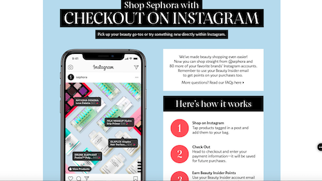 In addition to reducing transactional friction, Sephora is moving closer to the consumer's point of passion to consummate a sale at the moment when the desire is highest. Image credit: Sephora