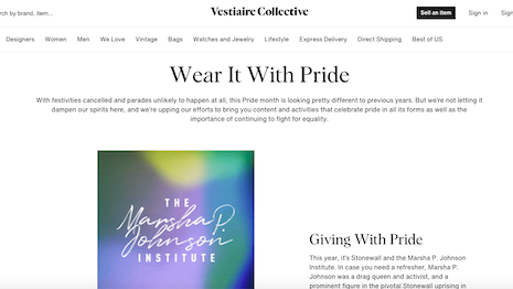 Vestiaire Collective's top sellers and its own employees are rummaging through their wardrobes to sell pieces from big-name brands, with company commissions donated to Pride causes. Image credit: Vestiaire Collective