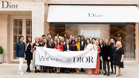 Dior's Women@Dior mentoring program goes online, given the current restrictions on gatherings and travel, but also extending the effort to a new channel. Image courtesy of