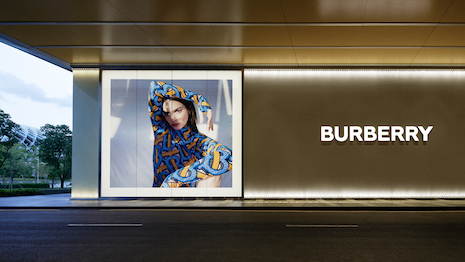 Burberry claims its shop in the Chinese tech hub of Shenzhen is the luxury world's first social retail store. Image courtesy of Burberry