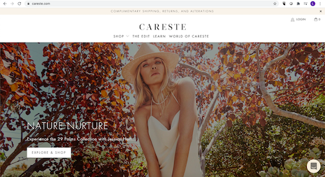 Careste homepage. Image credit: Careste