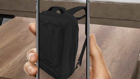 Using 3D & AR shopping experiences can help consumers zoom in when shopping for luggage online. Image courtesy of eBags