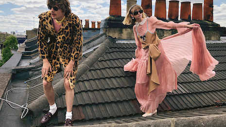 Gucci's fall-winter 2020-21 campaign asked models to film and photograph themselves in the company's looks. Image courtesy of Gucci