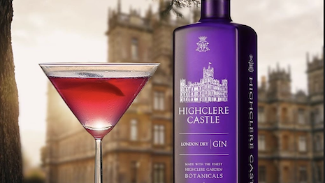 Highclere Castle gin uses botanicals from the Highclere Castle garden to create a unique flavor. Image courtesy of Highclere Castle Gin