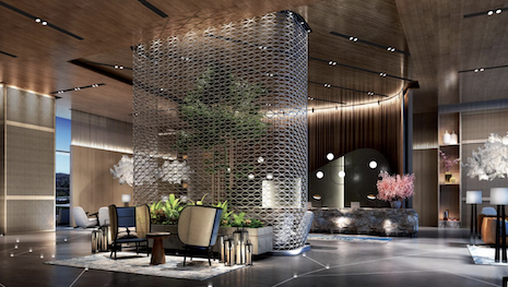 Hotel design will be transformed in a post-covid-19 travel environment. Image courtesy of Leo A. Daly