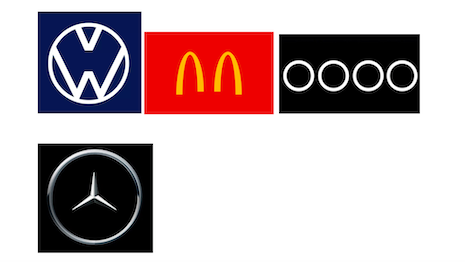 Many brands played with the spacing in their logos to denote social distancing in the COVID-19