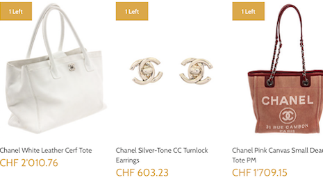 Chanel handbags and earrings on Gilt offer the brand an way to push old inventory Image credit: Gilt