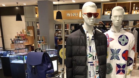 Louis Vuitton's fall-winter collection at Selfridges' Manchester department store in England. Image credit: Selfridges