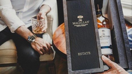 U.K. distiller The Macallan is working with ecommerce specialist Thirstie to let consumers its range of Scotch whiskies directly from themacallan.com. Image courtesy of The Macallan