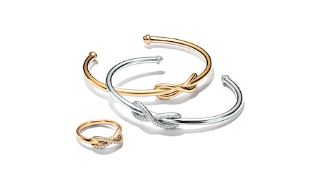 All profits from the sale of the Tiffany Infinity Collection through Aug. 31 will go to COVID-19 relief. Image courtesy of Tiffany & Co.