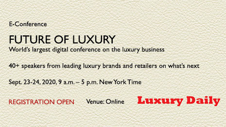 Luxury Daily will host its Future of Luxury eConference Sept. 23-24 on the road ahead for the luxury business