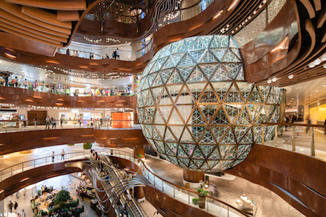 K11 Musea's Opera Theatre, featuring Gold Ball, reshapes the retail experience with its new cultural-retail concept. Image courtesy of New World Development
