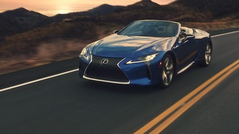 Lexus has rolled out a national marketing campaign for its LC 500 Convertible as it tries to woo U.S. consumers seeking an escape from COVID-19 lockdowns. Image courtesy of Lexus