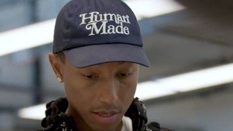 Pharell Williams visiting a Chanel atelier in the latest social media drop from the brand. Image credit: Chanel