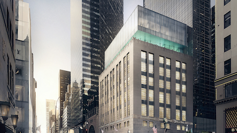 Exterior rendering of the renovated Tiffany & Co. flagship. Image courtesy of Tiffany & Co.