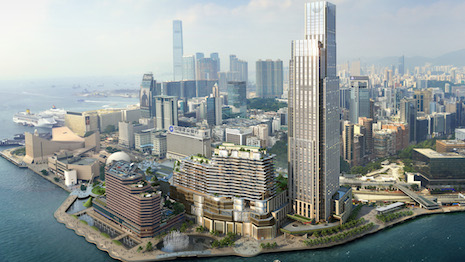 Victoria Dockside, the $2.6 billion, 3-million-square-foot global art and design district comprising K11 Musea, K11 Artus, K11 Atelier and the Rosewood Hong Kong hotel, was conceived and created by Adrian Cheng in collaboration with 100 creative powers. Image courtesy of New World Development