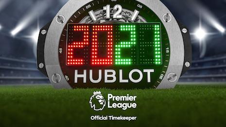 The 2020-21 season Premier League 4th Referee Board by Hublot. Image courtesy of Hublot