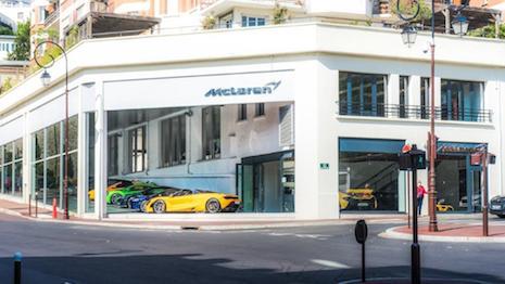 Maison McLaren Paris showroom is a lifestyle-focused dealership. Image courtesy of McLaren Automotive