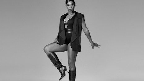 Tennis star Serena Williams returns for another outing to model boots in Stuart Weitzman's fall 2020 campaign. Image credit: Stuart Williams