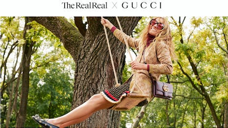 Gucci's deal with The RealReal is a nod to sustainability. Image credit: Gucci