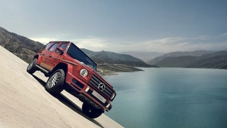The new Mercedes G-Class SUV. Image credit: Mercedes-Benz