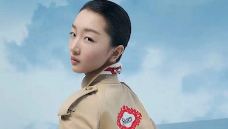 Burberry's localized Trench campaign, featuring its brand ambassador, Zhou Dongyu, has boded well with the local consumers. Image credit: Burberry's WeChat