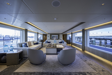 Salon of the Majesty yacht