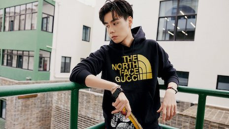 Despite their varying motivations for buying luxury brands, Chinese consumers love to mix and match labels and styles, creating a new market space. Image courtesy of Gucci x The North Face