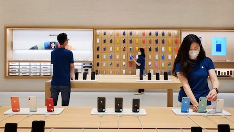 Rising incomes, dynamic lifestyle aspirations, and high consumer confidence have helped boost the China market. But there's another emerging factor: consumer credit. Image courtesy of Apple